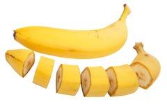 Banana slices Royalty Free Stock Photography
