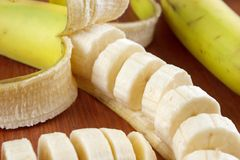 Banana slices Royalty Free Stock Image