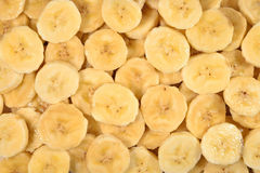 Banana slices background Stock Image