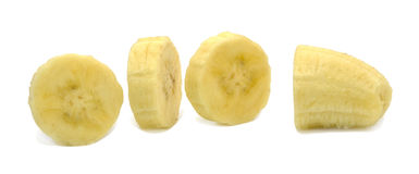 Banana slices Stock Images