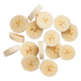 Banana slices isolated on white background Stock Images