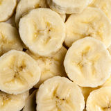 Banana Slices Overhead View Stock Photos