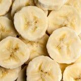 Banana Slices Overhead View. Banana slices, overhead view, full frame Stock Photos