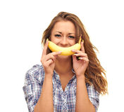Banana smile Royalty Free Stock Photos