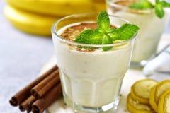 Banana smoothie with cinnamon. Stock Image