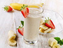 Banana Smoothie Stock Photo
