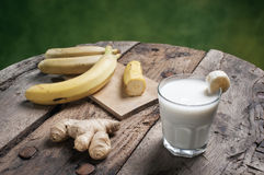 Banana Smoothie with ginger Stock Photography