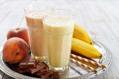 Banana smoothie Stock Images