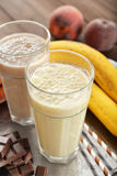 Banana smoothie Royalty Free Stock Images