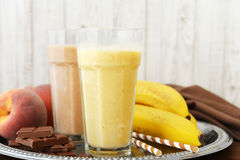 Banana smoothie Stock Image