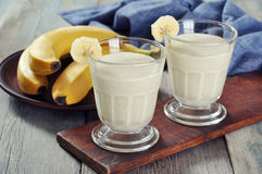Banana smoothie Stock Photos
