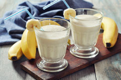 Banana smoothie Royalty Free Stock Photos