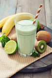 Banana smoothie with kiwi Royalty Free Stock Photography
