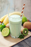 Banana smoothie  with kiwi Stock Photo