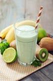 Banana smoothie  with kiwi Stock Photo
