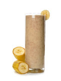 Banana smoothies Stock Images