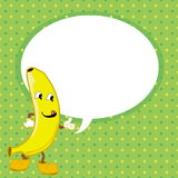 Banana with speech bubble vector Stock Photography