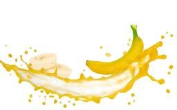 Banana splash Stock Images
