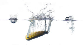 Banana splash Stock Image