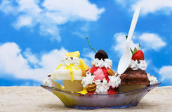 Banana Split Stock Photography