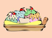 Banana split illustration de vecteur