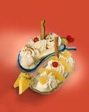 Banana split Images libres de droits