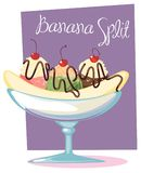 Banana split Image stock