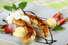 Banana split Stock Images