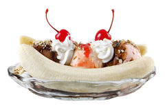Banana split Photo libre de droits