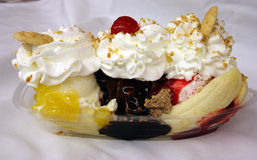 Banana split Stockbild