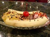 Banana split classico Dessert Immagine Stock