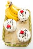 Banana split cold drink Stock Images