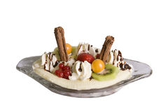Banana Split Dessert Royalty Free Stock Photos