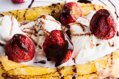Banana split dessert Royalty Free Stock Image