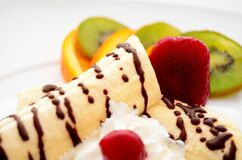 Banana Split Dish Stock Photography
