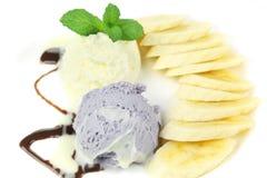 Banana split ice cream Stock Image