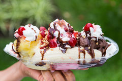 Banana Split Royalty Free Stock Images