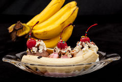 Banana split Royalty Free Stock Photography