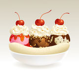 Banana Split ice cream Stock Photo