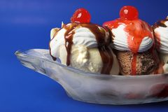 Banana Split Icecream Stock Photo