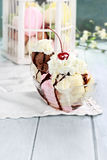 Banana Split Sundae Stock Image