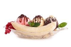 Banana split stock photos