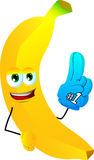 Banana sports fan with glove Stock Photography