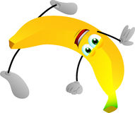 Banana standing on one hand Royalty Free Stock Photo