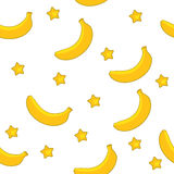Banana star pattern Royalty Free Stock Photos