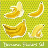 Banana sticker set Royalty Free Stock Image