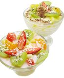 Banana and strawberry desserts Stock Photography