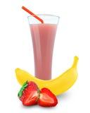 Banana-strawberry juice Royalty Free Stock Photo