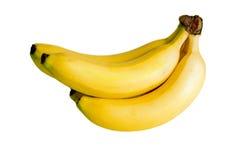 Banana su bianco Fotografia Stock