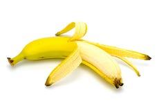 Banana su bianco Immagini Stock Libere da Diritti